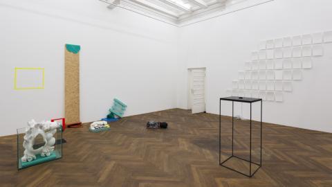 Berlin Masters 2014. Installation view. From left to right: Verena Schmidt, Felix Kiessling, Paul Darius